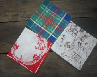 Three Vintage Hankies