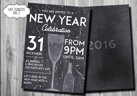 2016 New Years Eve Party Invitations – New Years Eve Party Invite