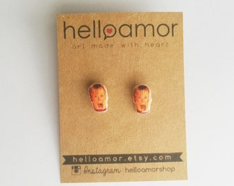 Macaulay Culkin Home Alone Earring Posts Jewelry Funny Movie Christmas Movie Accessories Kevin Home Alone Silver Plated Earring Posts