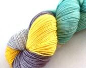 Clearance - Oregon Coast Sunset - Twisted MCN Sock Yarn: 80/10/10% Superwash Merino/Cashmere/Nylon, Fingering Weight - In Stock