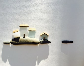 8 by 10 sea glass village by sharon nowlan