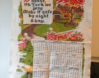 1968 Cloth Calendar - Bless this House