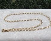 Gold Chain ID Badge Lanyard Matte Gold Half Flat Curb Chain Lanyard
