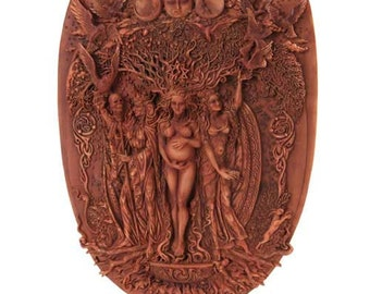 Triple Goddess Imagery Wall Plaque