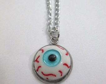 Simple Creey Cute Eyeball Charm Necklace, Evil Eye Necklace