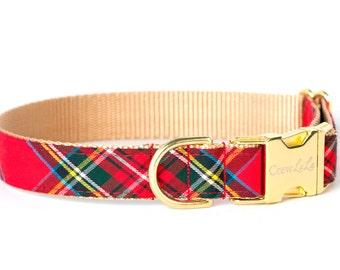 Crew LaLa™ Scottish Tartan Dog Collar