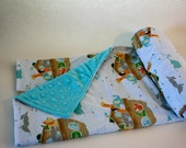 Ultra Soft Baby Blanket - Noah's Arc - WITH CUSTOM LETTER