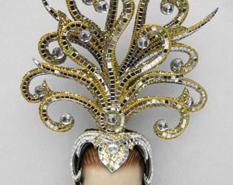 Gold Medusa Drag Cabaret Showgirl Queen Headdress