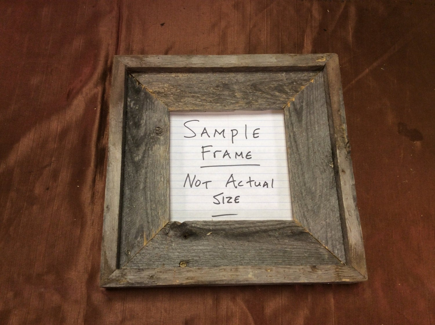 22x22 standard barn wood picture frame
