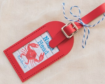 Wedding Favors - Rustic Beach Leather Luggage Tags