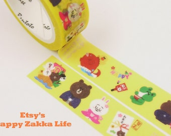 Line Friend - Japanese Washi Masking Tape - 11 yards