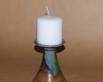Handmade Stoneware Candle Tower