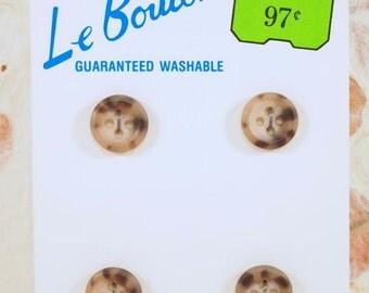 DESTASH Tan Buttons, Plastic Buttons, Sewing Supplies, New Buttons, CKDesigns.US