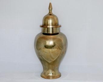 Large Heavy Brass Ginger Jar, Urn