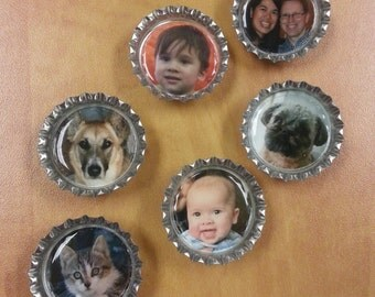 Personalized Bottle Cap Magnets