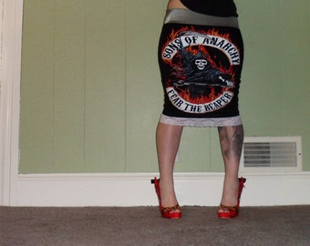 Sons Of Anarchy - Reaper - Black Pencil Skirt