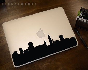 Cleveland Skyline Macbook Decal 1 | Macbook Sticker | Laptop Decal | Laptop Sticker | Car Sticker