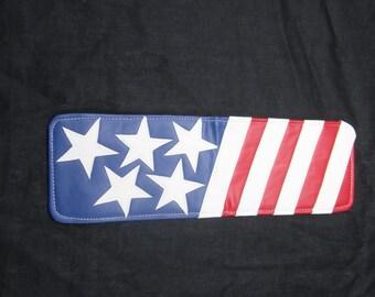 Sunfish Uncle Sam USA hand made leather golf scorecard and yardage book holder/ cover
