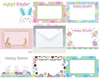 40ct. HAPPY EASTER Assortment Florist Blank Enclosure Cards & Envelopes (Free Shipping!)