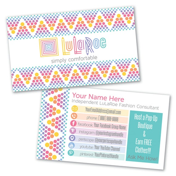 Lularoe custom business card design by lilstarletcouture for Lularoe name cards