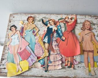 Vintage Paper Doll Lot No. 3 Paper Paper Ephemera Pinup Pin Up Girl