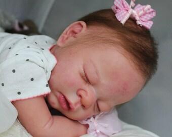 """Reborn Baby Doll """"Erin""""  --  Adrie Stoete  --  Micro-Rooted Slumberland Hair  --  Beautiful Detail"""