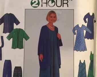 Simplicity 8171 Misses' Dress, Jacket, Pants and Sash Pattern, UNCUT, Size Large, X Large, 1998, 2 Hour pattern, Work Wear, Casual Wear