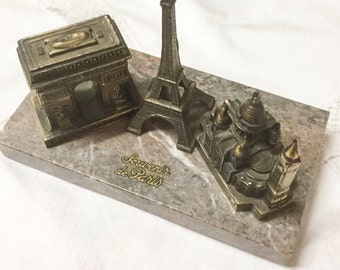 Vintage French Perpetual Calendar, French Calendar, Paris Tourist Piece