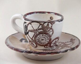 espresso cup steampunk design
