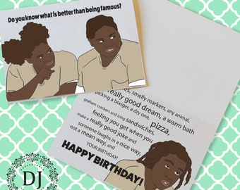 Orange is the New Black Birthday Card
