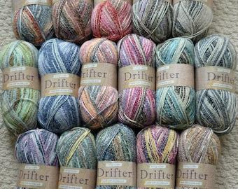 DK Knitting Wool/Yarn King Cole Drifter Double Knitting (Light Worsted) Knitting Yarn/Wool