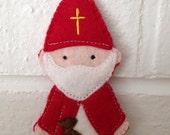 Saint Nicholas - Catholic Saint Toy - Finger Puppet
