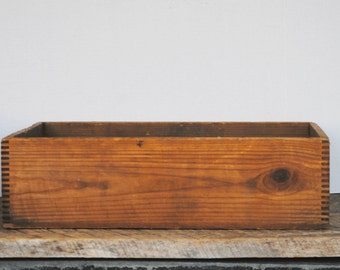 Vintage Wooden Dovetailed Drawer or Box