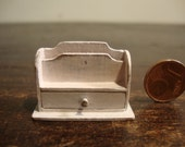 Miniature dollhouse wooden letter holder