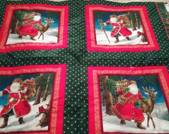 Santa and Reindeer Hand Made and Hand Quilted