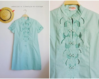 Vintage Mint Chinese Dress