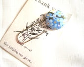 Forget me not bookmark Thank you teacher gift.