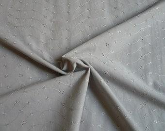 Broderie anglaise gris- 50 cm