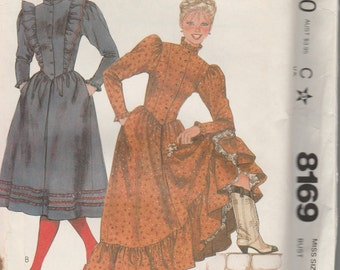 1982 sewing pattern McCall's 8169 Misses dresses size 12 bust 34