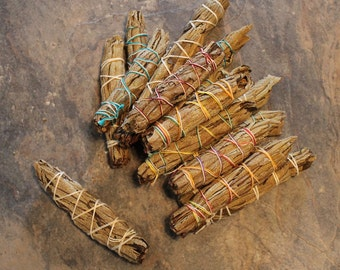Yerba Santa Smudge Bundle, One Yerba Santa Smudge Stick, Ceremonial Herbs,Space Clearing,Sacred Plant Smoke,Yerba Santa