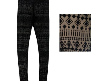 Black Mesh Leggings / Footless Tights / Geometric Printed Leggings /Mesh Tights- Small, Medium, or Large