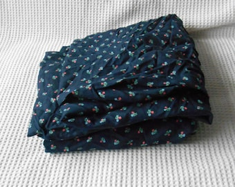 Ditsy Print Floral Chintz Fabric Dark Blue Cotton  Collection Large Panel  Cottage Chic