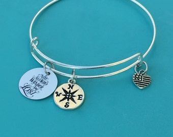 Not All Who Wander Are Lost Charm Bracelet