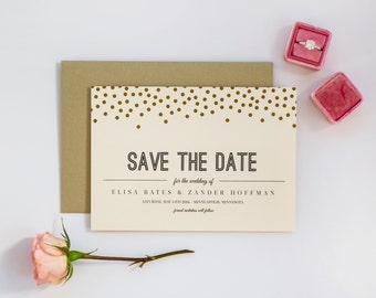 Suit and Tie Save the Date