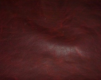 """Leather 20""""x20"""" PULL UP Merlot Wine Distressed Cowhide 3-3.5 oz /1.2-1.4 mm PeggySueAlso™ E2930-06"""