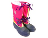 Rad 80s Womens Baffin Canada Neon Ski Boots - 8 / 8.5 (W)