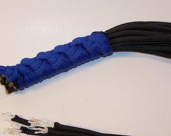 Paracord Flogger Blue Handle Black Falls Mature