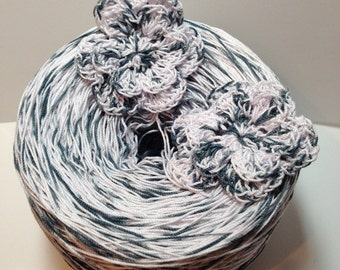 Crochet Cotton - Size 10 - Hand Dyed - Pink Zebra - Sample Size - 10, 25 or 50 Yards