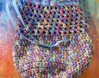 Monet Crocheted Drawstring Bag