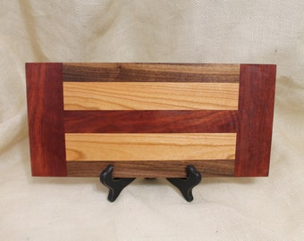 Cheese or Sushi Board Hardwood Walnut, Cherry and Bloodwood
